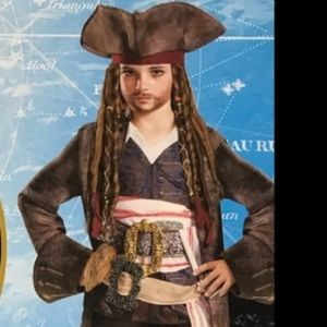 Pirates of THe Caribbean pirate hat brown kids